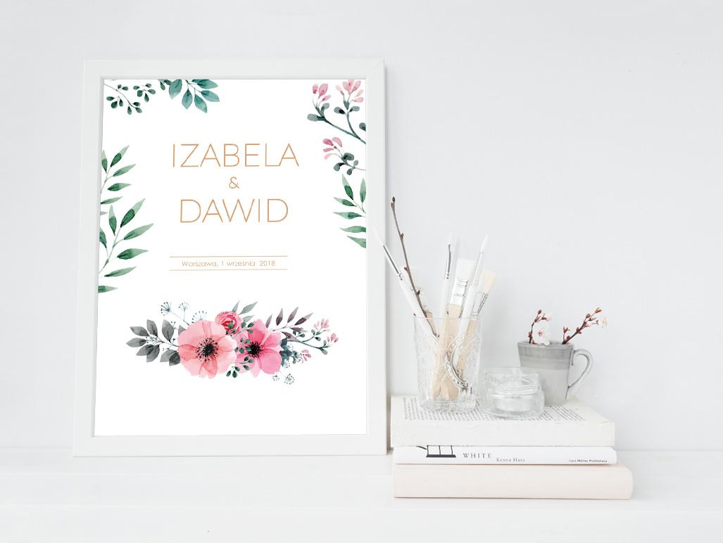 Plakat Personalizowany Pamiątka ślubu
